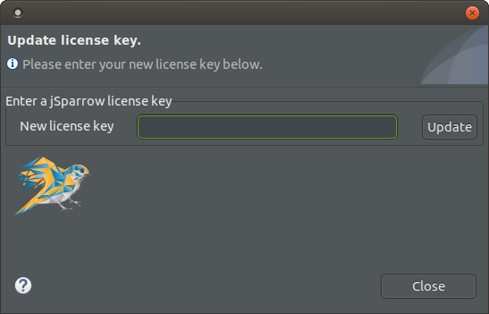 Update license key